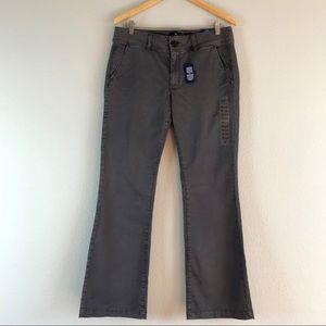 American Eagle Kick Boot Mid-rise Pants Gray 12